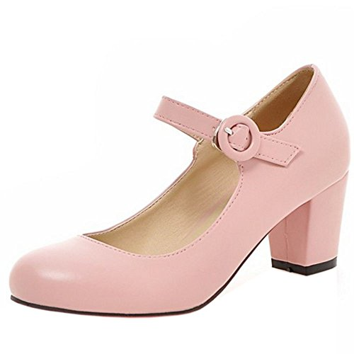 Scarpe Pink Tacco Sweet Donna Solid col Zanpa Color qwE41ff