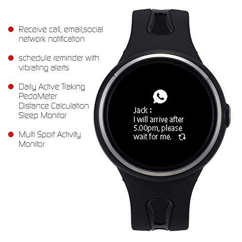 Goforce Cameo Bluetooth Smart Watch for Men Fitness Activity Tracker Sleep Monitor Heart Rate Pedometer Counter Calorie Burner Notification for iPhone ...