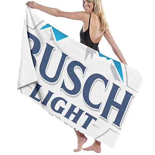 YF150 Busch Light Beer Bath Towels Luxury Microfiber Beach Towel Quick-Drying Pool Towel Blanket