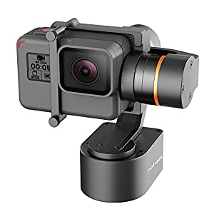 Hohem 3-Axis Wearable Gimbal Stabilizer for Action Camera GoPro Hero 5, HERO 4, Yi 4K, etc. Autorotation, Two Axis Unlimited Rotating, Bluetooth Control (Black)