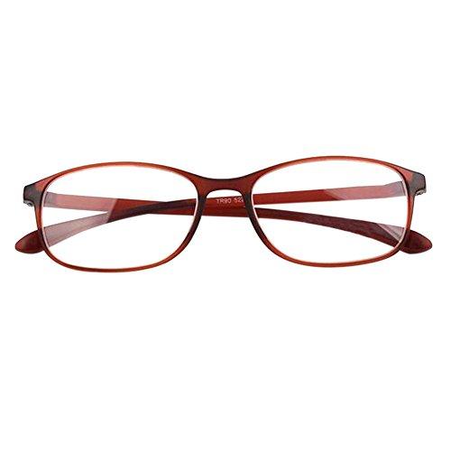 032554292a Deylaying Gafas de lectura Mujer Hombres Resina Cuadrado lentes para leer  retro 1.0~4.0 Negro