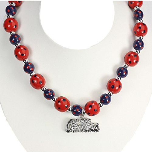 Colonel Rebel Costume (Ole Miss Rebels Polka Dots Wood Bead Stretch Necklace)