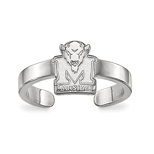 - 925 Sterling Silver Officially Licensed Marshall University College Toe Ring