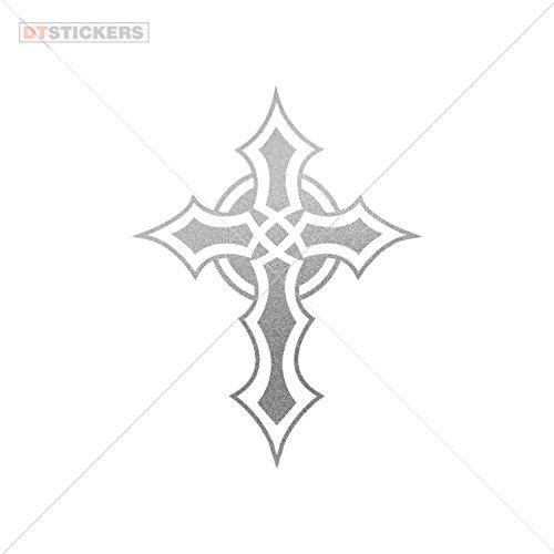 - Sticker Celtic Cross durable Boat (3 X 2,27 In. ) Matte Metallic Silver