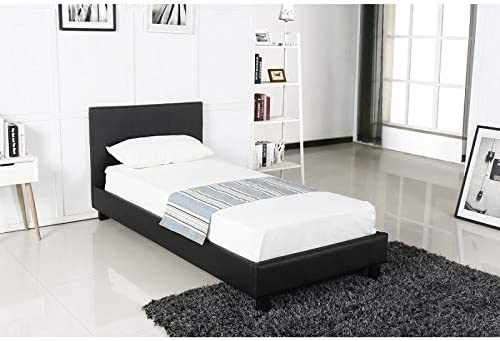 PRICE FACTORY just for you Cama de diseño Negro ABEL 90 x 200 ...