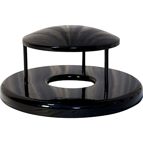 - Ultra Play 32 gal. Powder Coated Black Commercial Park Rain Bonnet Receptacle Lid