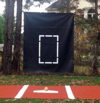 Fortress Baseball/Softball Vinyl Net Saver [with Target] - 1400gsm | 5ft x 6ft by Fortress