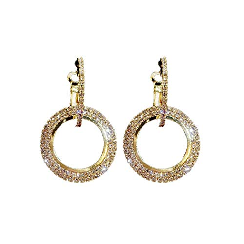- Lunir Women Fashion Elegant Style Circle Rhinestone Drop Earrings Jewelry Gift Drop & Dangle