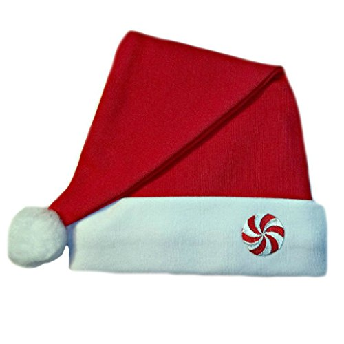 [Jacqui's Unisex Baby Red Santa Hat with Peppermint Candy, 6-12 Months] (Peppermint Costumes)