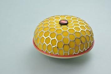 Liquor Cold Air Intake Filter Yellow Car New Mushroom Type Universal 3' Inside Diameter Chrome Mesh Short Ram