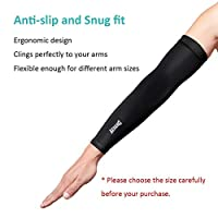 Aegend Arm Sleeves UV Cooling Sleeves Arm Cover Sun-Protection For Men Women Youth, Assorted Color Size from aegend