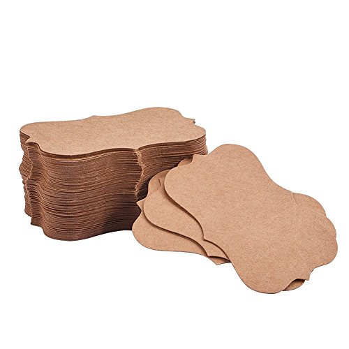 NBEADS 150PCS Blank Kraft Paper Business Card Word Card Message Card DIY Gift Card Jewelry Display Paper Price Tags, 3.5 x1.97 ()