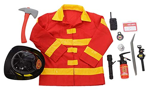 Kangaroos Role Play Firefighter Costume & Fireman Toys Kit (11 Pc) -
