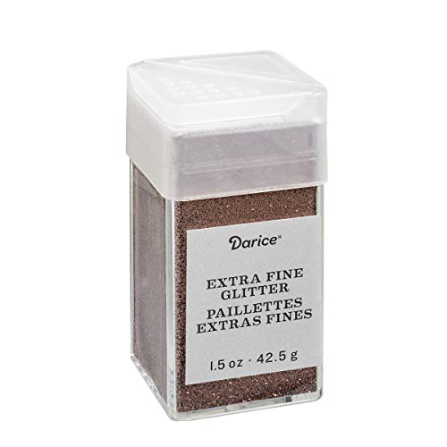 (Chestnut Brown Extra Fine Glitter 1.5 Ounces Canister w/Pour or Shake Lid)