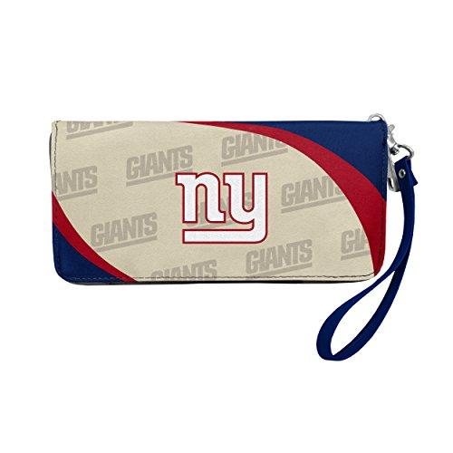 New York Giants Wallet - NFL New York Giants Curve Zip Organizer Wallet
