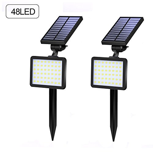 XINREE 48 LED Solar Spotlights Outdoor 2-in-1 Wireless Waterproof Solar Landscape Lighting 960Lumen 3 Modes Adjustable Wall Light Auto On/Off Security Lights For Yard Garden Driveway Pathway Pool by XINREE