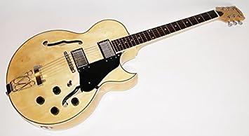 Cherrystone Gsh Electric Guitar Jazz Guitar Natural Amazon Co Uk