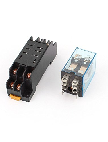 12v Ac Dpdt Relay - Baomain AC 12V Coil Power Relay 10A DPDT LY2NJ with PTF08A Socket Base