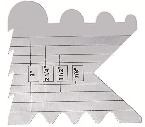 Cutting Edge Ruler for Cutting and Sealing Ribbon--Ruler Only. Wood Burning Tool Is Sold (Wood Ribbon)