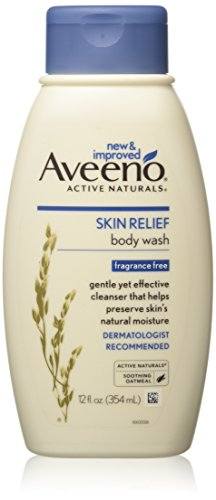 Aveeno Fragrance Free Cleanser (Aveeno Active Naturals Skin Relief Body Wash, Fragrance Free, 12 Fl. Oz)