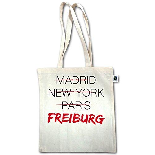 Città - Città Cosmopolita Di Friburgo - Unisize - Natural - Xt600 - Manico Lungo In Juta Bag
