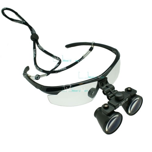 Dental Lab Surgical Medical Binocular Eye Loupe Glass 2.5x Amplification Magnifier