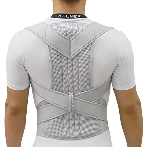 - Physical Therapy Posture Brace for Men Or Women Sports Posture Corrector Spinal Support, Shoulder, and Neck Pain Relief,Gray,M