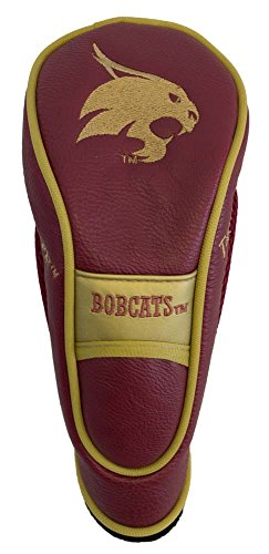 (Team Golf NCAA Texas State Bobcats Hybrid Golf Club Headcover, Hook-and-Loop Closure, Velour lined for Extra Club Protection)
