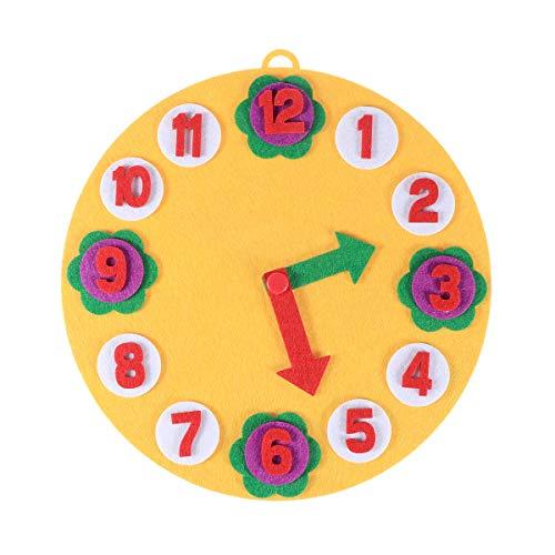 SUPVOX Felt Craft Material Clock Felt Applique Ornament Kit Home Wall Hanging Decoration