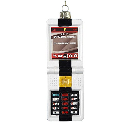 Kurt Adler Glass Power Rangers Morpher Key Pad Ornament, 5-Inch -