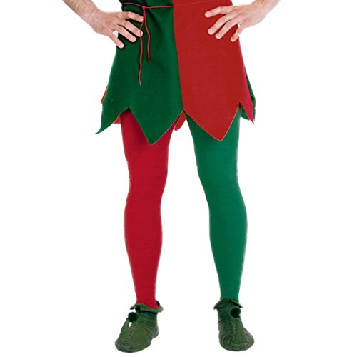 Christmas Green and Red Elf Tights (Plus) ()