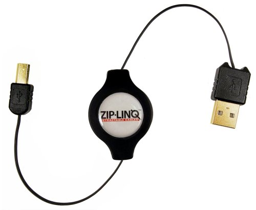 (Cables Unlimited ZIP-USB2-C01 ZipLinq Retractable USB 2.0 Cable)