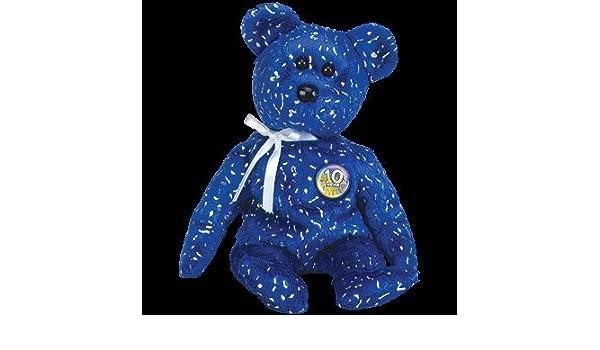 fbf1e9f697c Amazon.com  TY Beanie Baby - DECADE the Bear (Royal Blue Version)  Toys    Games
