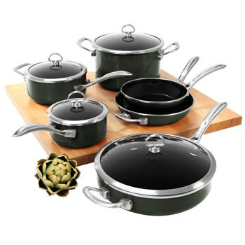 Chantal's Copper Fusion Cookware Set, 10 Pieces, Black