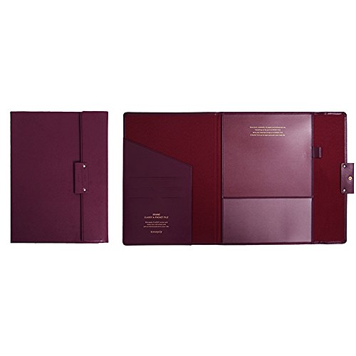 Professional Portfolio Briefcase File Folder File Organizer with Flap-Top Snap Closure, Premium Quality File Envelope Folder, A4 Documents Holder, Padfolio 12.79
