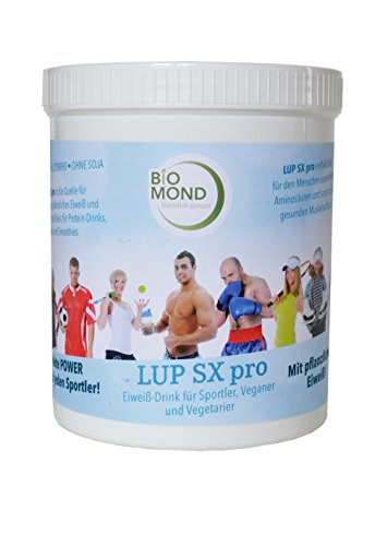 Protein-Shake Eiweiß-Shake LUP SX Pro Sport 900 g / pflanzliches Eiweiß / LOW CARB / Fatburner / Diät / vegane Proteine / für Veganer / Muskelaufbau / Fettverbrennung / Proteinshake / Eiweißdrink / Fitnessdrink auf Basis MACA, Süßlupine, Hanfproteine / Leistungssteigerung / Potenz und Vitalität / T-Booster / Testo-Booster