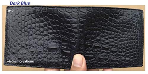 Vietnamcreations RFID Blocking Genuine Alligator Crocodile Leather Bifold Wallet for Men Handmade