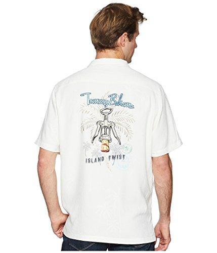 Tommy Bahama Island Twist Camp Shirt (Continental, Medium)