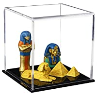 Better Display Cases Versatile Acrylic Display Cases with Sold Base - Cube, Dust Cover or Riser - All in One Product