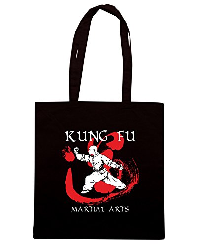 T-Shirtshock - Bolsa para la compra T0399 kung fu arti marziali Negro
