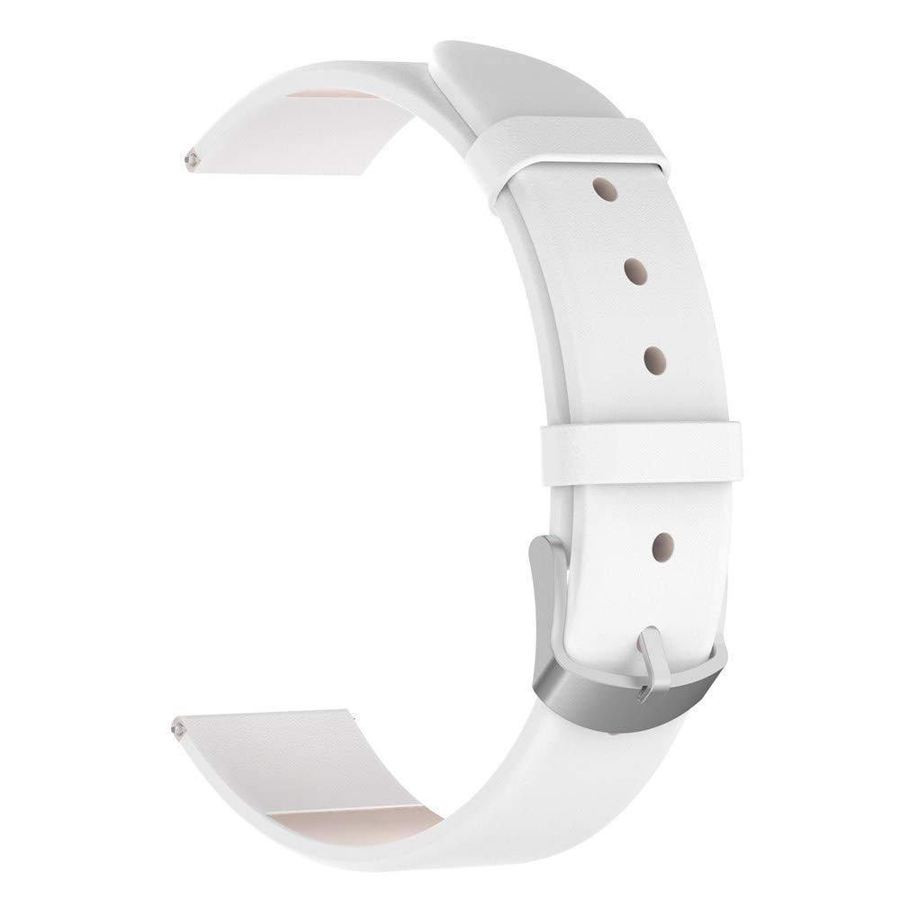 iumei Samsung Galaxy Smart Watch Band, Replacement Elegant Leather Wristband Strap Bracelet Bands for Samsung Galaxy Watch (42mm) (White)