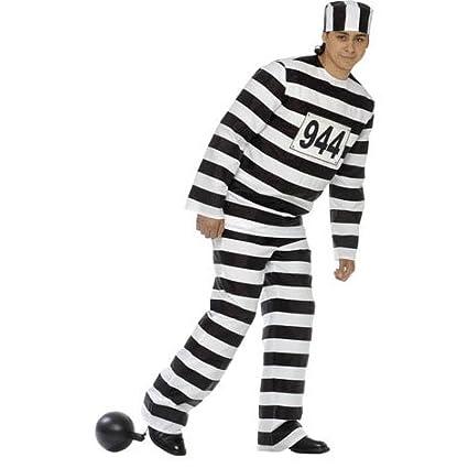 Disfraz o preso traje completo (sin bola) Talla M: Amazon.es ...
