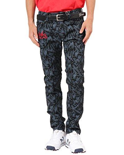 [ガッチャ ゴルフ] GOTCHA GOLF パンツ メキシカン柄 スーパー ストレッチ 総柄 ロングパンツ 182GG1800 ブラック XXLサイズ