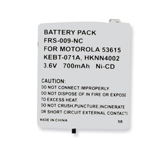 Motorola T5500 2-Way Radio Battery (Ni-CD 3.6V 700mAh) Rechargeable Battery - replacement for Motorola 53615 ()