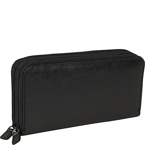 budd-leather-distressed-leather-double-zip-around-wallet-black