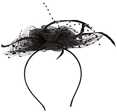 Zivyes Fascinators Hat Cocktail Tea Party Wedding Headwear Flower Mesh Feathers Headband Clip For Girls and Women