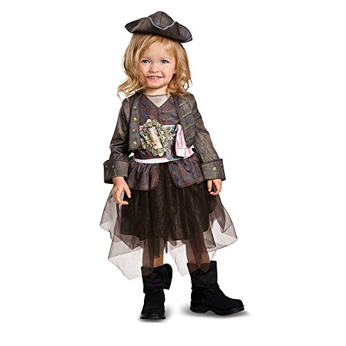 Disney POTC5 Captain Jack Sparrow Inspired Tutu Classic Toddler Costume,  Multicolor,  Medium (Pirate Tutu Costumes)