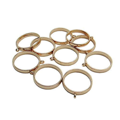 Pendant Back Loop - 10 Pcs 25mm Gold Round Open Back Bezel Pendant Zinc Alloy Round Frame Pendant with 1 Loop for Jewelry Making