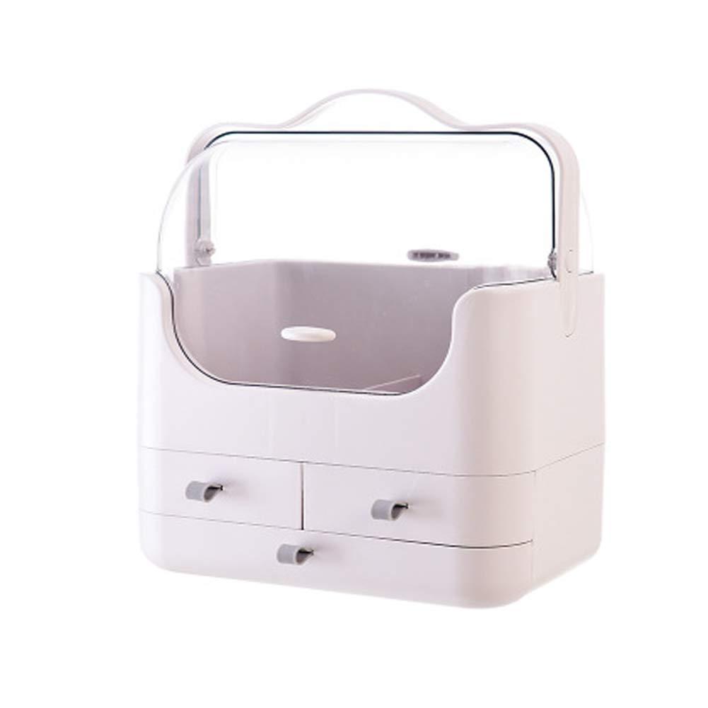 RHVG Net red Cosmetic Storage Box, Household Plastic Skin Care Rack, Lipstick dust Dressing Table, Finishing Box, Large-Capacity Storage Box,-Grey