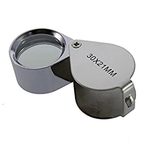 Rumfo 30X21 mm Mini Microscope Jewelers Eye Loupe Magnifier Magnifying Glass for Home Jewelry Coins Stamps Watch Detecting